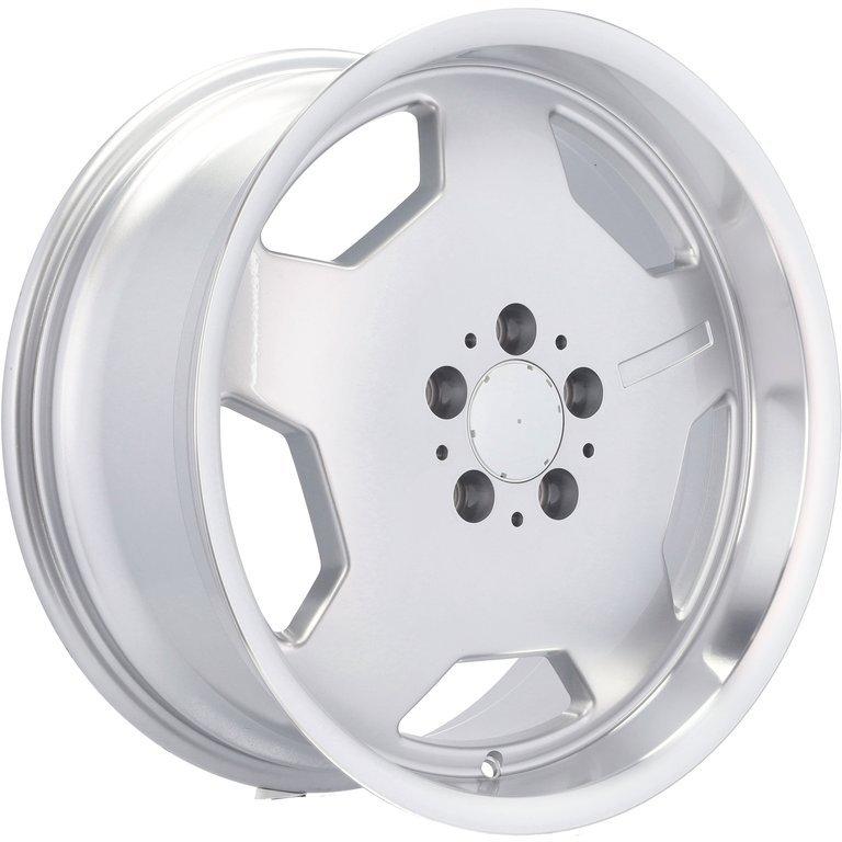 RACING LINE RBY1048 (BK836) hliníkové disky 8x17 5x112 ET33 SILP - Silver + polished lip
