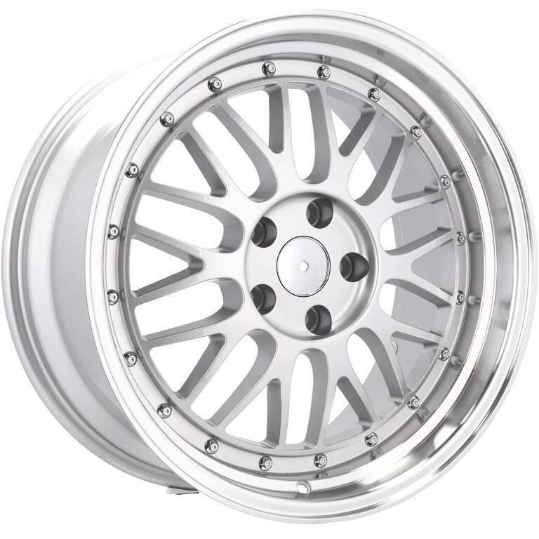RACING LINE RA1025 hliníkové disky 8x18 5x112 ET35 MS - Polished Silver